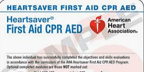 HeartSaver First Aid CPR AED eCard: ADAMS NETWORK INSTRUCTORS ONLY tickets