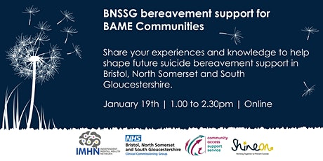 Suicide Bereavement Support for BAME Communities tickets