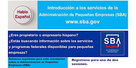 Orientación a los servicios de la Administración de Pequeñas Empresas (SBA) entradas