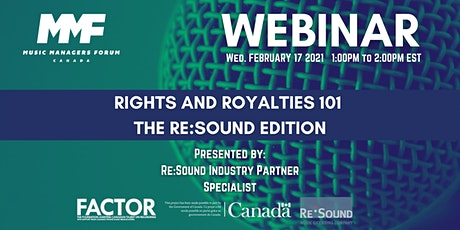 MMF CANADA WEBINAR: Rights and Royalties 101 - The Re:Sound Edition tickets