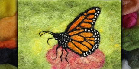 Needle Felt a Monarch Butterfly Painting tickets