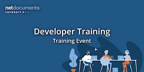 NetDocuments Developer Training   Virtual   October 4 - 7, 2021 tickets