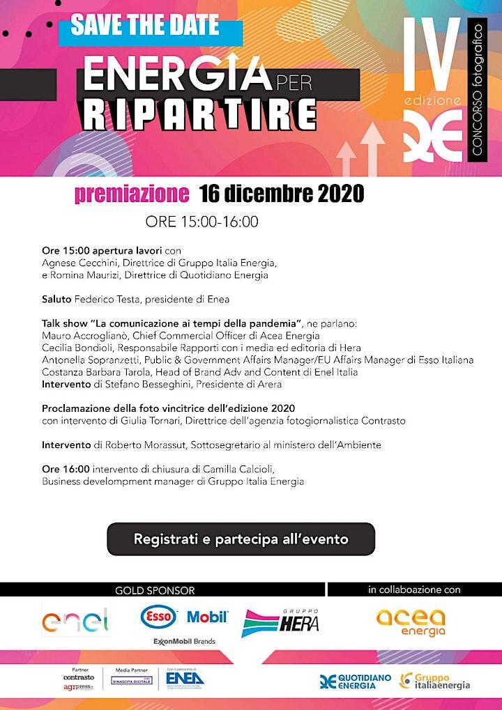 """Immagine Premiazione  Concorso Fotografico """"Energia per ripartire"""""""