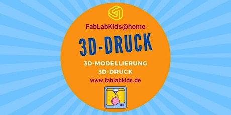 FabLabKids@home: Lerne 3D Modellieren mit TinkerCAD Tickets