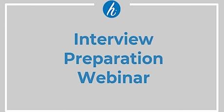 Interview Preparation Webinar tickets