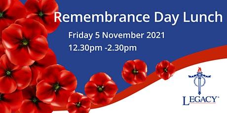 Legacy Remembrance Day Luncheon tickets