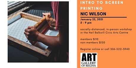 Introduction to Silk Screening with Nic Wilson tickets