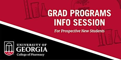 University of Georgia College of Pharmacy - Grad Programs Info Session tickets
