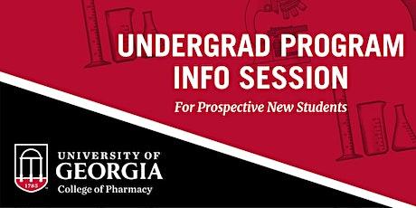 University of Georgia College of Pharmacy - Undergrad Program Info Session tickets