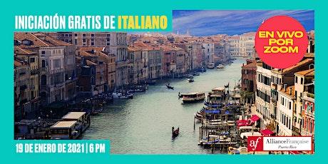 Iniciación gratis de italiano - Clase gratuita en línea para principiantes entradas