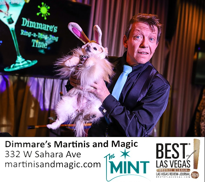 """Dimmare's Martinis and MAGIC ®...""""with a twist of Comedy and a Hula Girl !"""" image"""