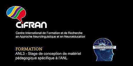 ANL3 - Stage de conception de matériel pédagogique spécifique à l'ANL billets