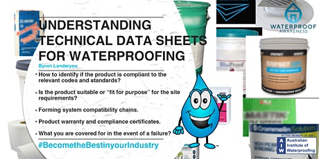 Understanding technical data sheets for waterproofing tickets