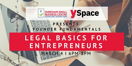 Founder Fundamentals - Legal Basics for Entrepreneurs tickets