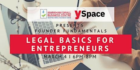 Founder Fundamentals - Legal Basics for Entrepreneurs tickets