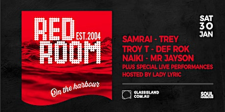 Glass Island - Red Room - Sunset Cruise - Sat 30th January tickets