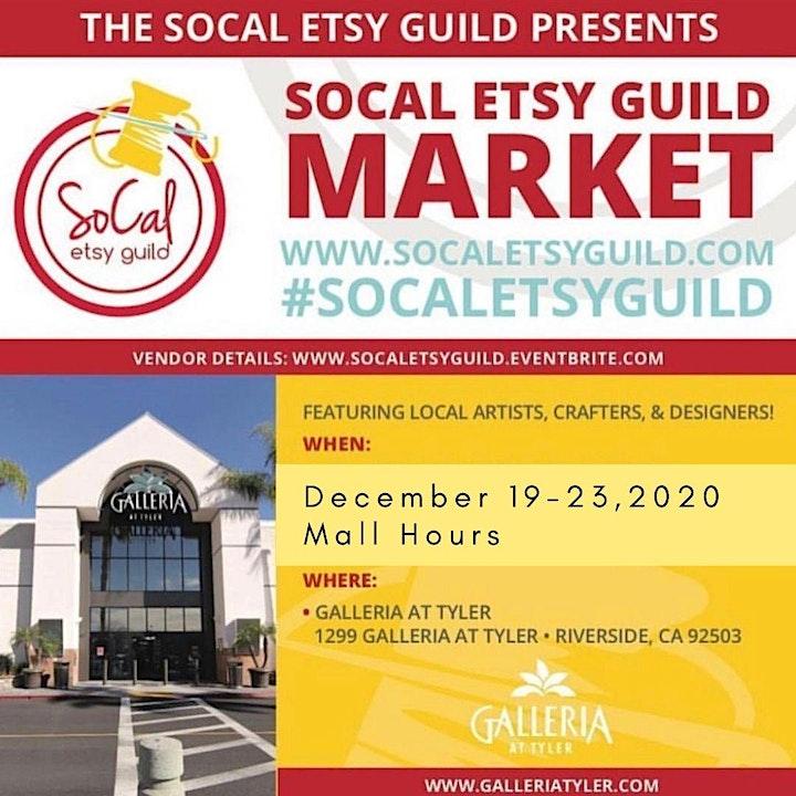 SoCal Etsy Guild Market Riverside December 19-23,2020 image