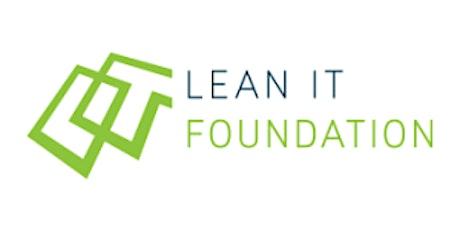 LITA Lean IT Foundation 2 Days  Training in San Jose, CA tickets