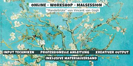 """Meisterwerke malen // inkl. Materialien+Versand  """"Mandelblüte"""" Malkurs Tickets"""