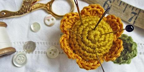 A Bit Trickier Crochet | Petal Pin Cushion tickets