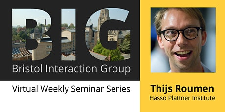 BIG Seminar: Thijs Roumen tickets