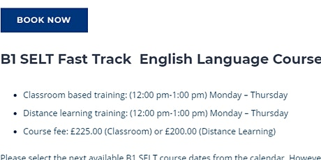 B1 SELT FAST TRACK - FOR CITIZENSHIP tickets