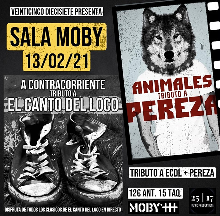 Imagen de FIESTA POP-ROCK ESPAÑOL CON TRIBUTOS A EL CANTO DEL LOCO Y PEREZA:SALA MOBY