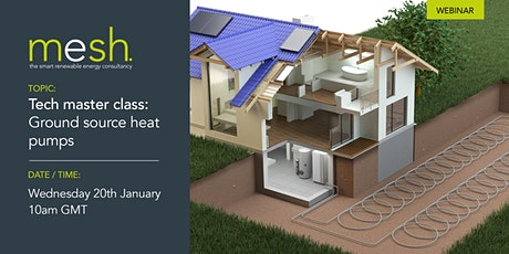 Mesh Energy webinar CPD tech masterclass: Ground source heat pumps tickets