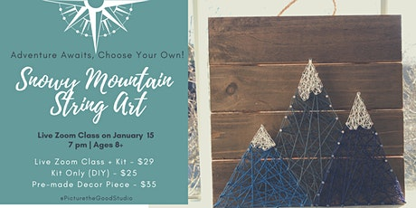 Snowy Mountain String Art tickets