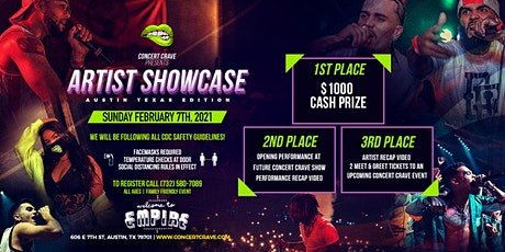 Concert Crave Artist Showcase - AUSTIN, TX 2.7.21 tickets