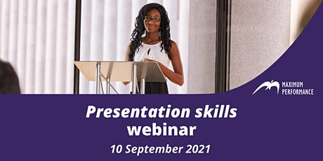 Presentation skills (10 September 2021) tickets
