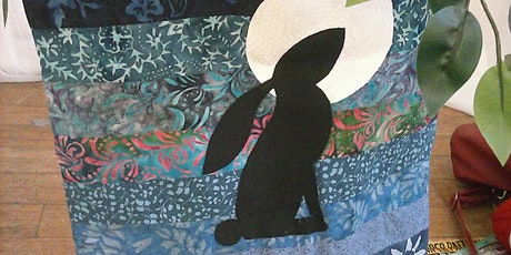 Moongazing Hare Applique Tote Bag tickets