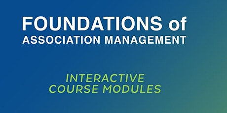 Foundations  of Association Management  Course (February 2-5, 2021) billets