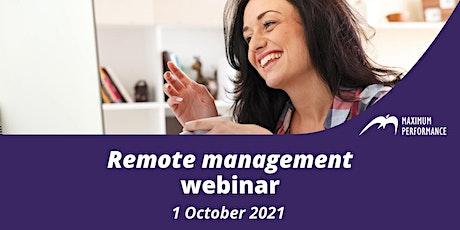 Remote management (1 October 2021) tickets