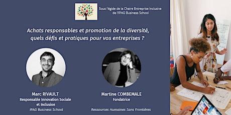 """RSE : Webinar """"Achats responsables et promotion de la diversité"""" billets"""