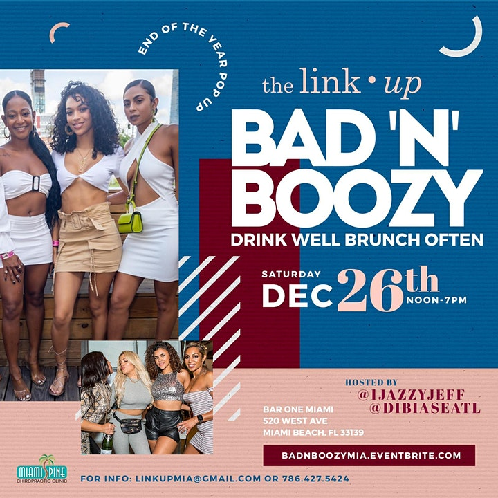 Bad 'N' Boozy Brunch & Day Party | End Of 2020 Pop Up | Saturday, Dec. 26th image