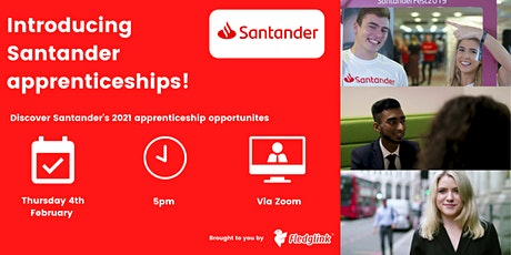 Introducing Santander apprenticeships! tickets