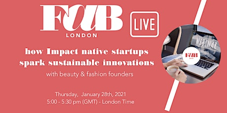 FAB London webinar - impact native startups tickets