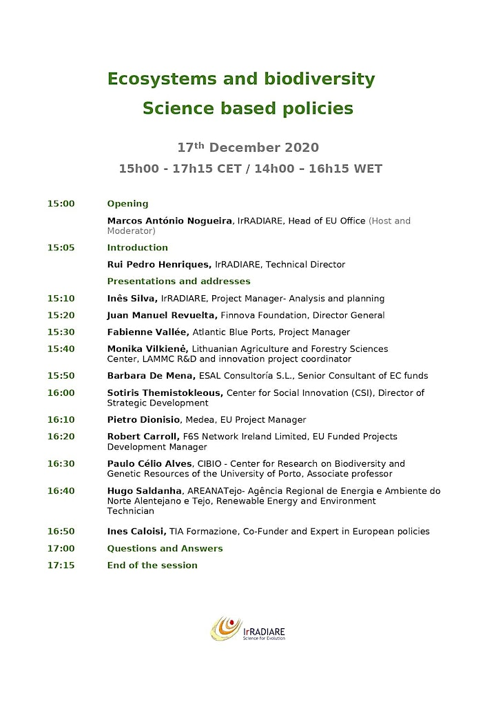 Ecosystems and biodiversity, science based policies in European Green Deal image