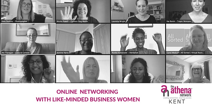 The Athena Network, Kent BROMLEY Group ONLINE Networking Meeting image