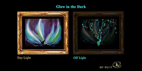 Sip and Paint (Glow in the Dark): Aurora with Deer (2pm Saturday) tickets