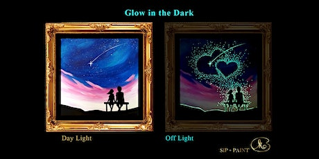 Sip and Paint (Glow in the Dark): Two of Us (8pm Saturday) tickets