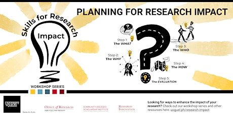 Skills for Research Impact Series: Planning for Research Impact tickets