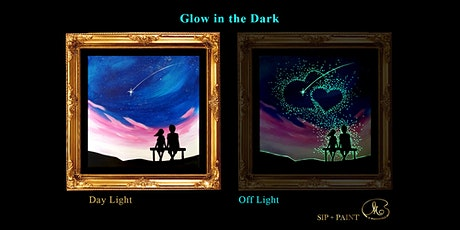 Sip and Paint (Glow in the Dark): Two of Us (2pm Saturday) tickets