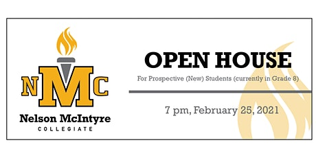 Nelson McIntyre Collegiate Open House tickets