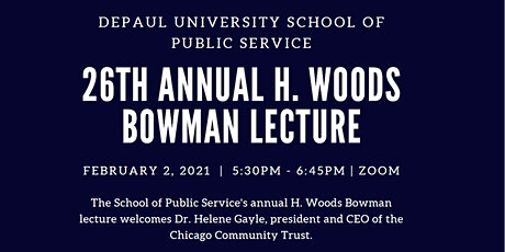 26th Annual H. Woods Bowman Lecture with Guest Speaker Helene Gayle tickets