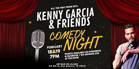 Kenny Garcia & Friends - An Evening of Stand-Up Comedy at Artisan on Alamo tickets