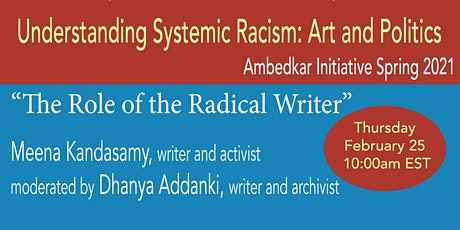 Understanding Systemic Racism: The Role of the Radical Writer tickets