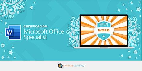 Certificación: MOS Word tickets