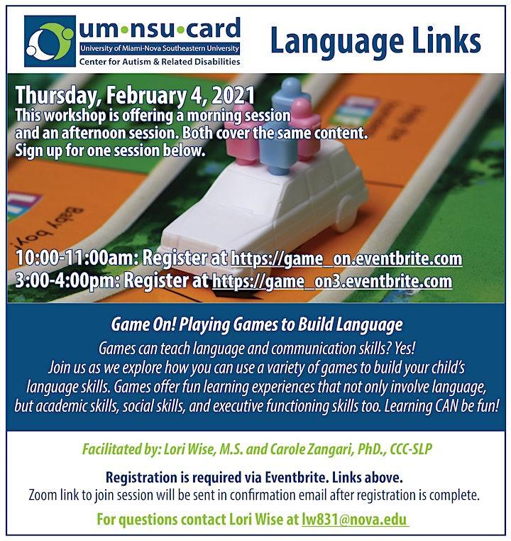 Language Links: Game On! Playing Games to Build Language image